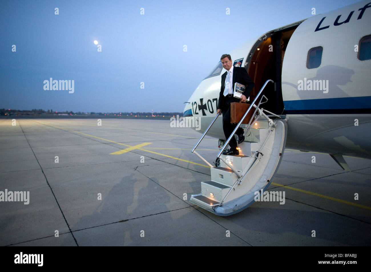 Guido WESTERWELLE, Bundesminister für auswärtige Angelegenheiten, stellvertretender Bundeskanzler besucht Stockbild
