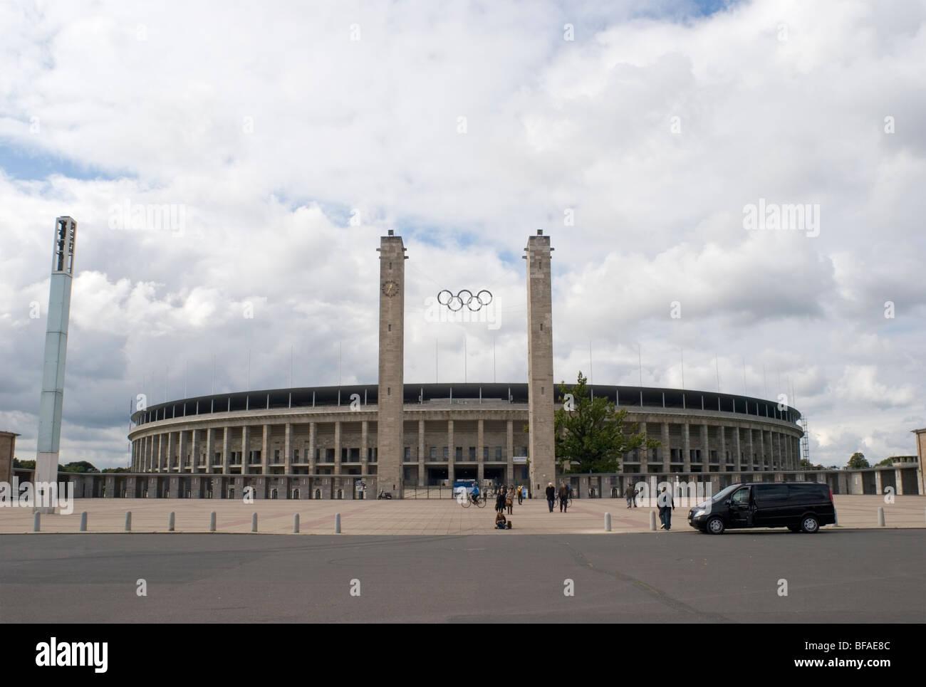 Außenbereich des Olympiastadion - Berlin - Deutschland Stockbild