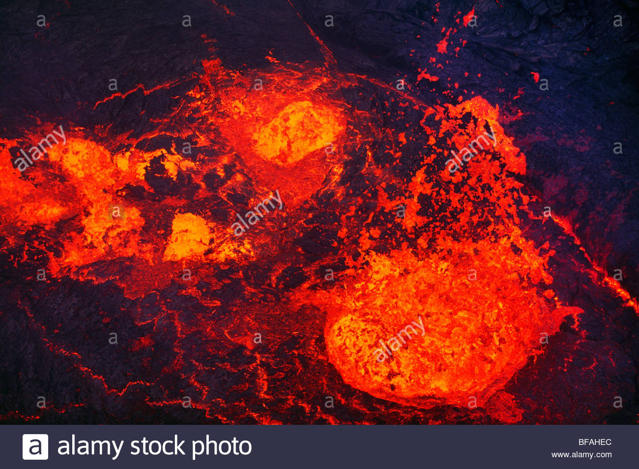 Lavasee im Pu'u ' O'o-Krater, Hawai?i-Volcanoes-Nationalpark, Hawaii Stockbild