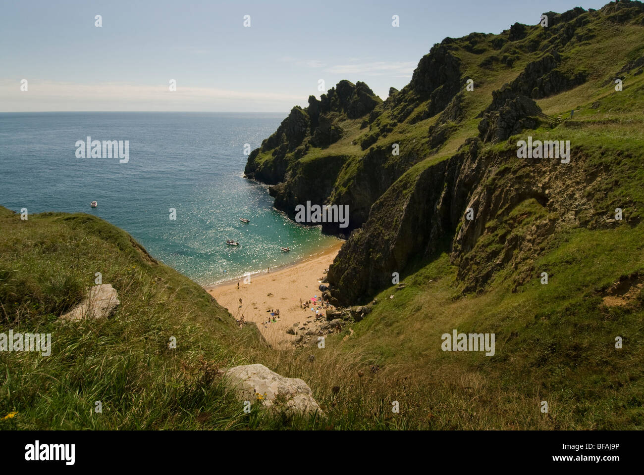 Maceley Cove, South Hams, Devon, England, Vereinigtes Königreich Stockbild