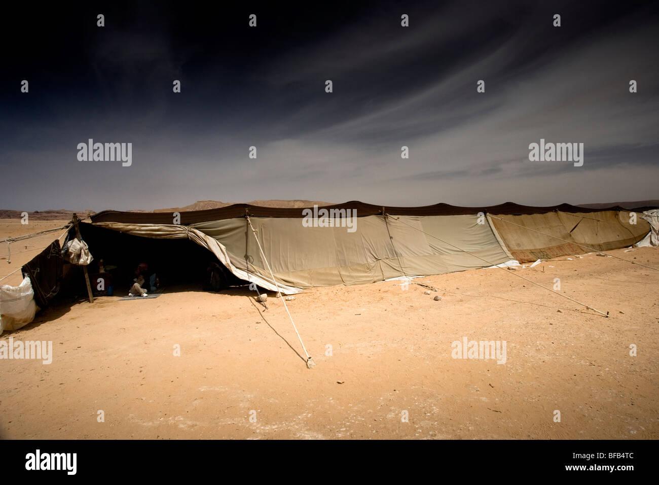 Bedouin camp, Wadi Rum, Jordanien Stockbild