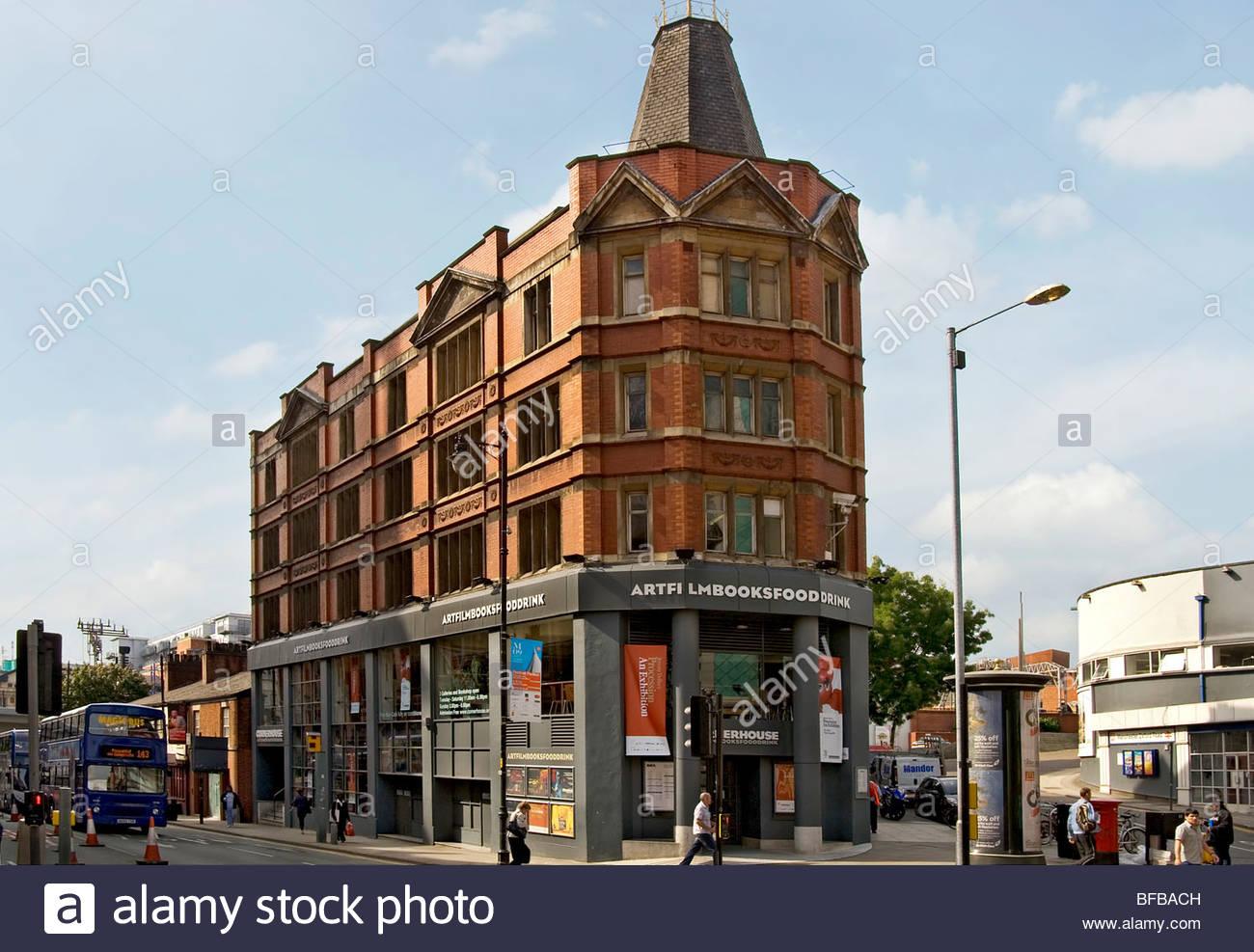 """""""Cornerhouse"""" ist ein Zentrum für Kino und der zeitgenössischen bildenden Kunst in Manchester. Stockbild"""