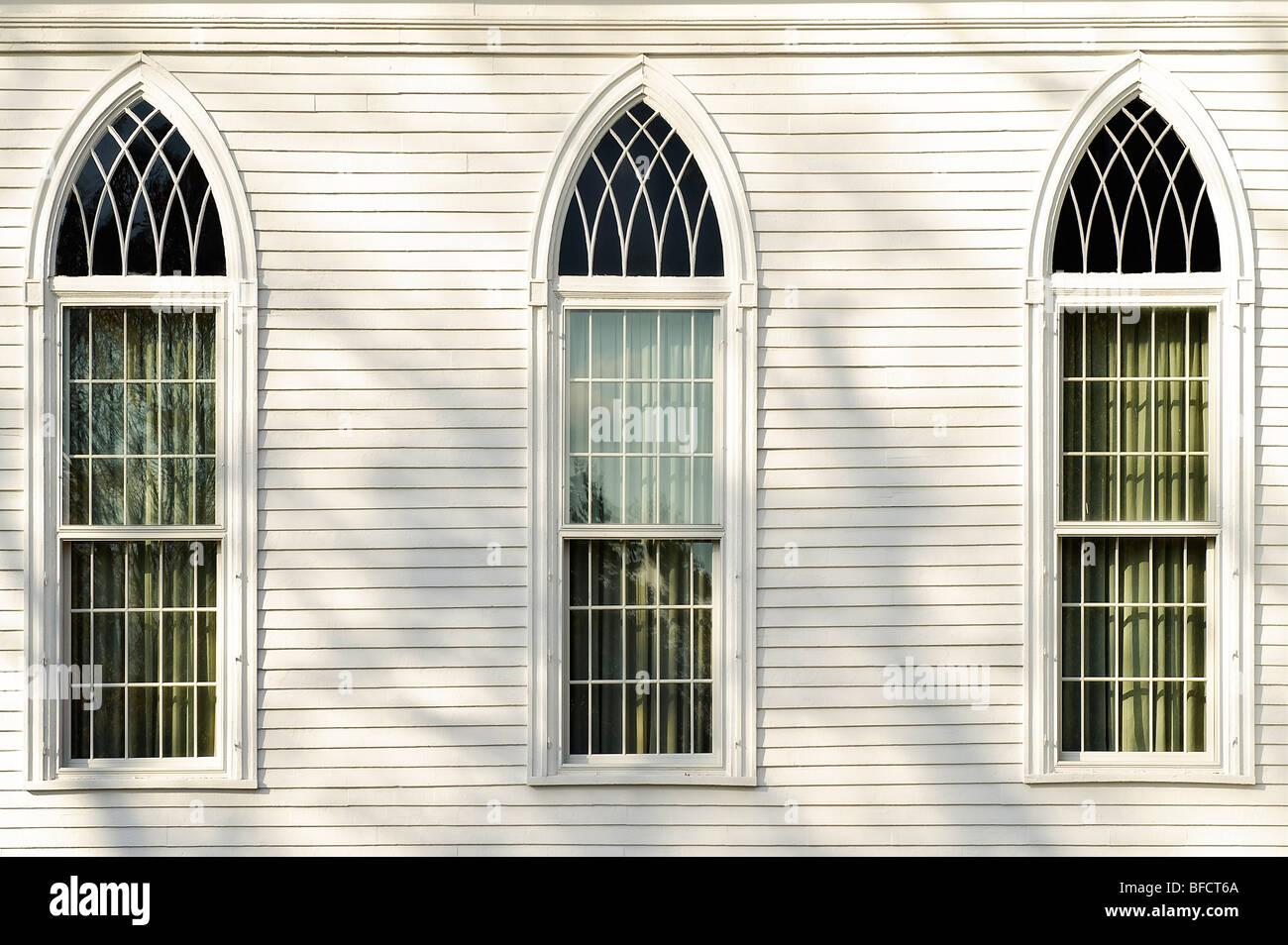 Fensterdetail Kirche. Stockbild