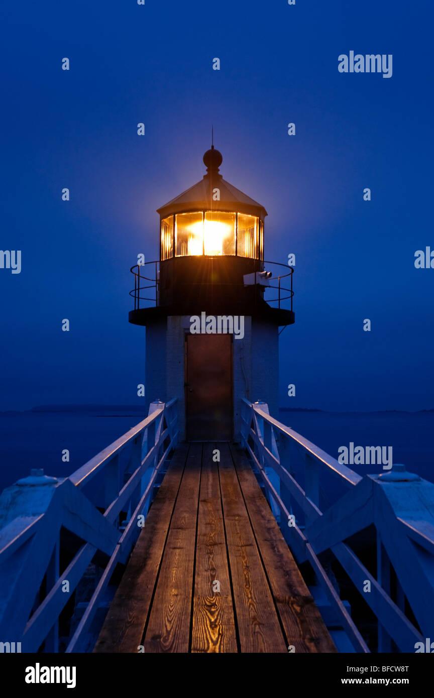 Marshall Point Light Station, Port Clyde, Maine, USA. Stockbild