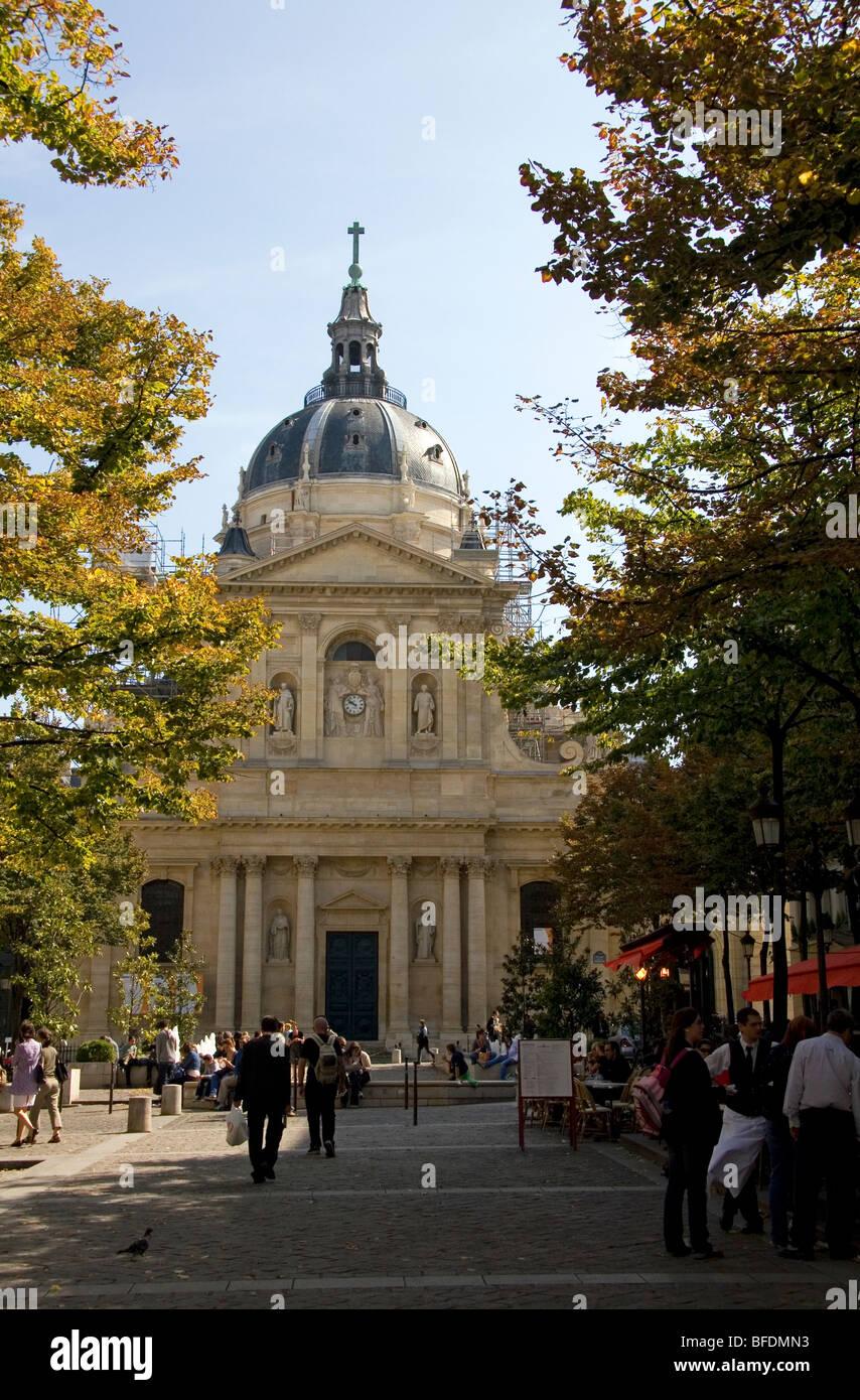 Der Sorbonne in Paris, Frankreich gelegen. Stockbild