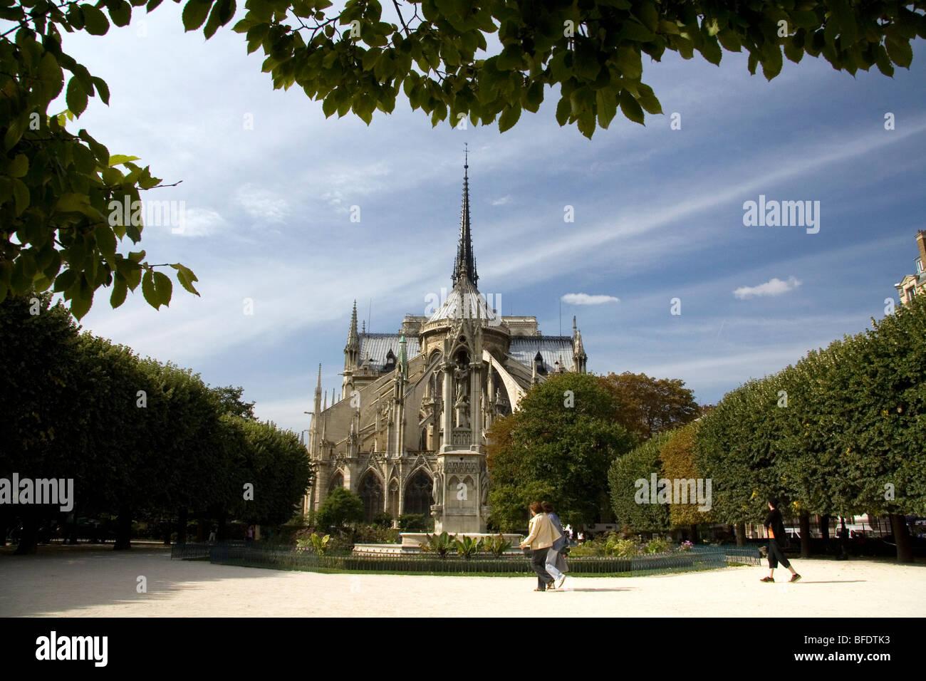 Notre Dame de Paris in Paris, Frankreich. Stockfoto