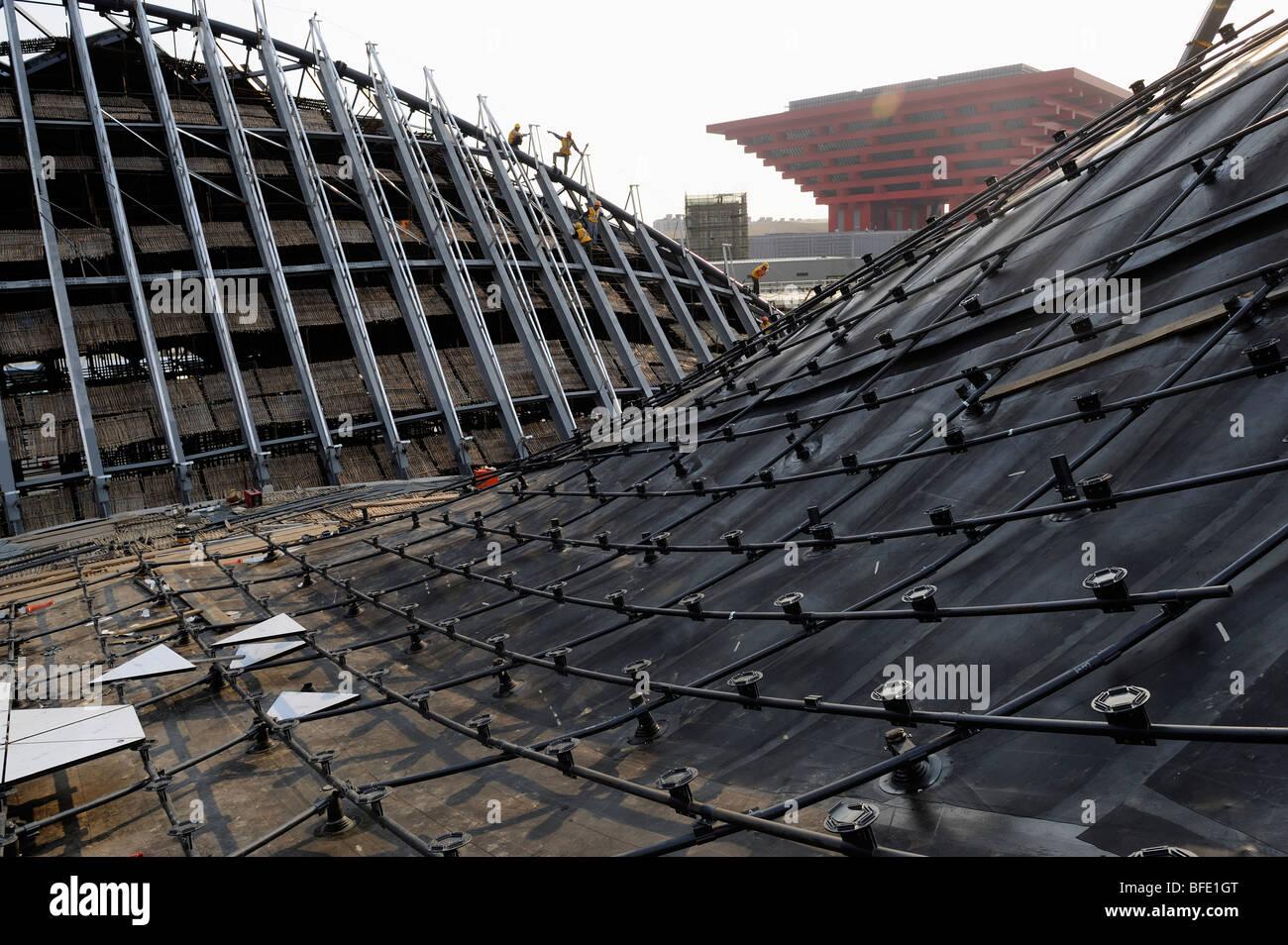 Baustelle der World Expo 2010 in Shanghai China.15-Oct-2009 Stockbild