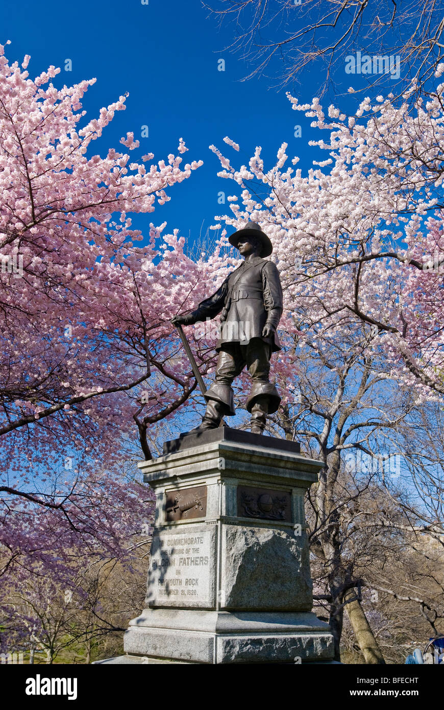 Pilgrim Hill im Central Park in New York City. Stockbild