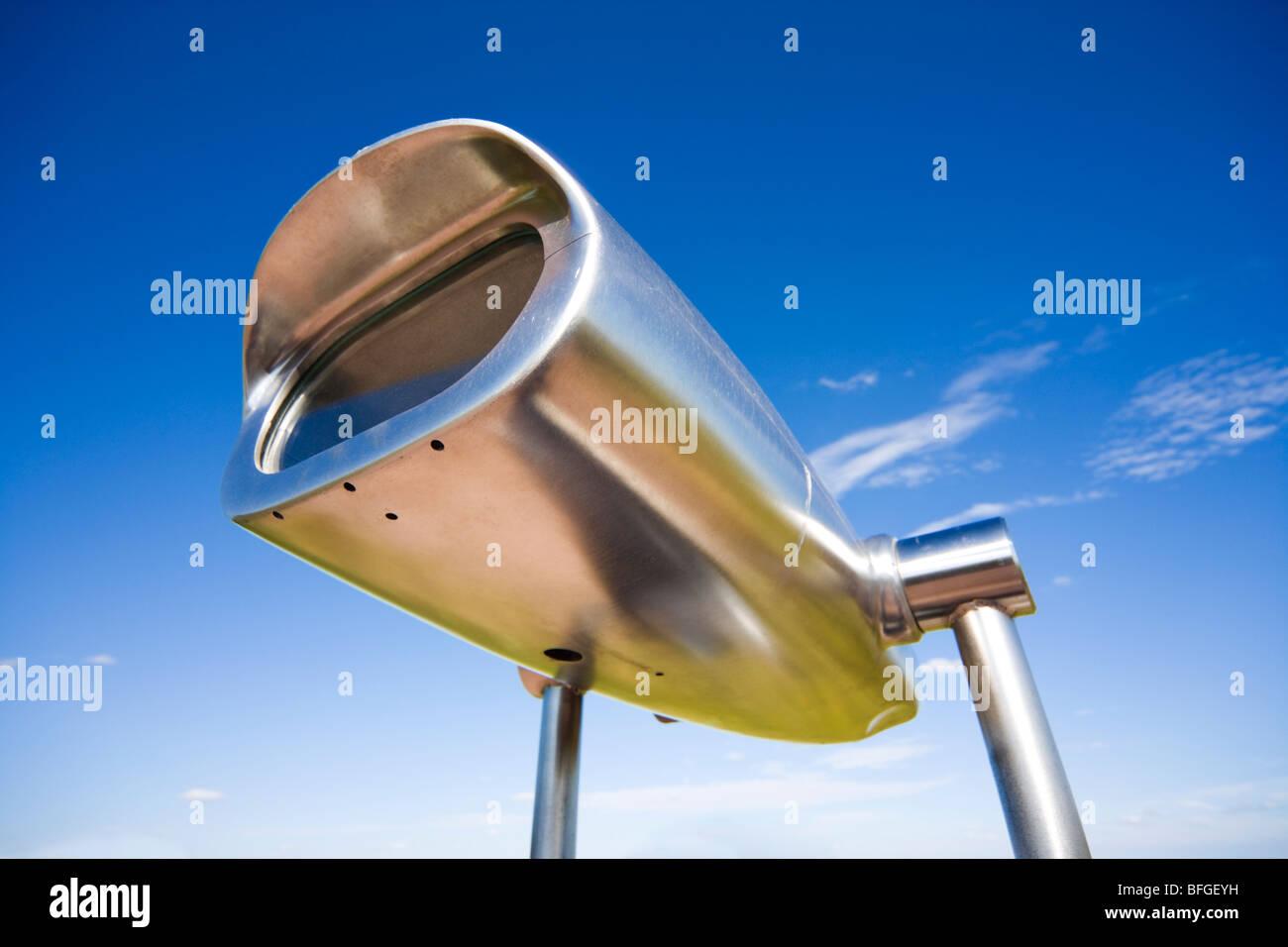Starke große Aluminium Bereiche anzeigen. Fernglas Hi-Spy Münz. Mechanische 50 X Teleskop Viewer auf einem Stockbild