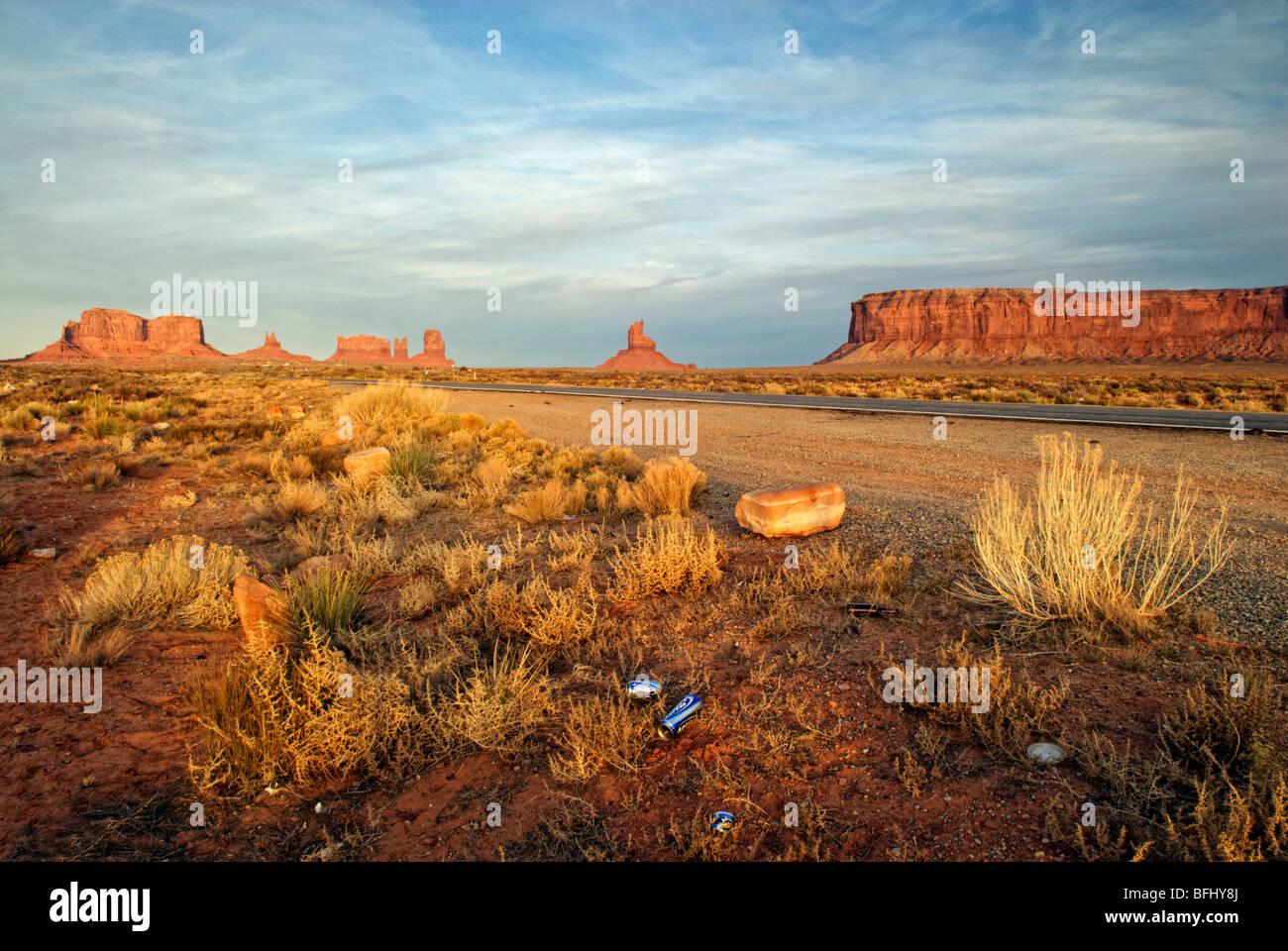 Monument Valley, Arizona, Vereinigte Staaten von Amerika Stockbild