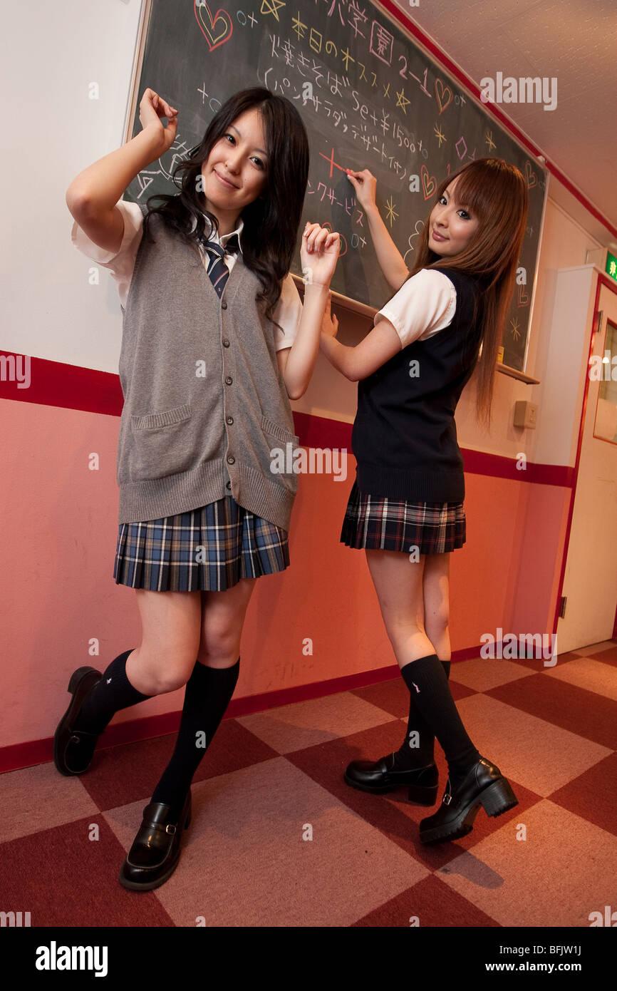"""Yuki und Asakura Sakura von J-Pop-band """"Jelly Beans"""", verwaltet von Aslan Talent Management Agency, Tokio. Stockbild"""