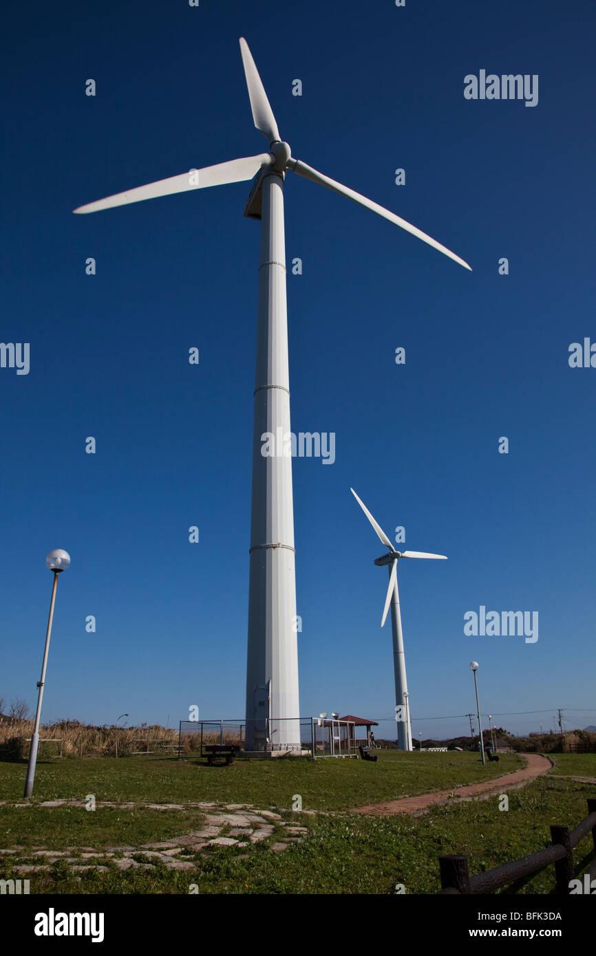 MIyagawa Windpark auf der Miura-Halbinsel Stockbild