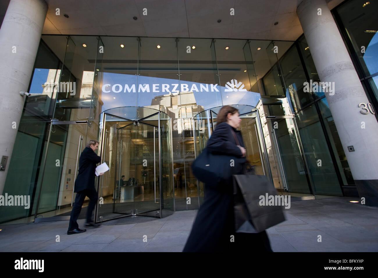 Commerzbank-Filiale, Zentral-London Stockbild