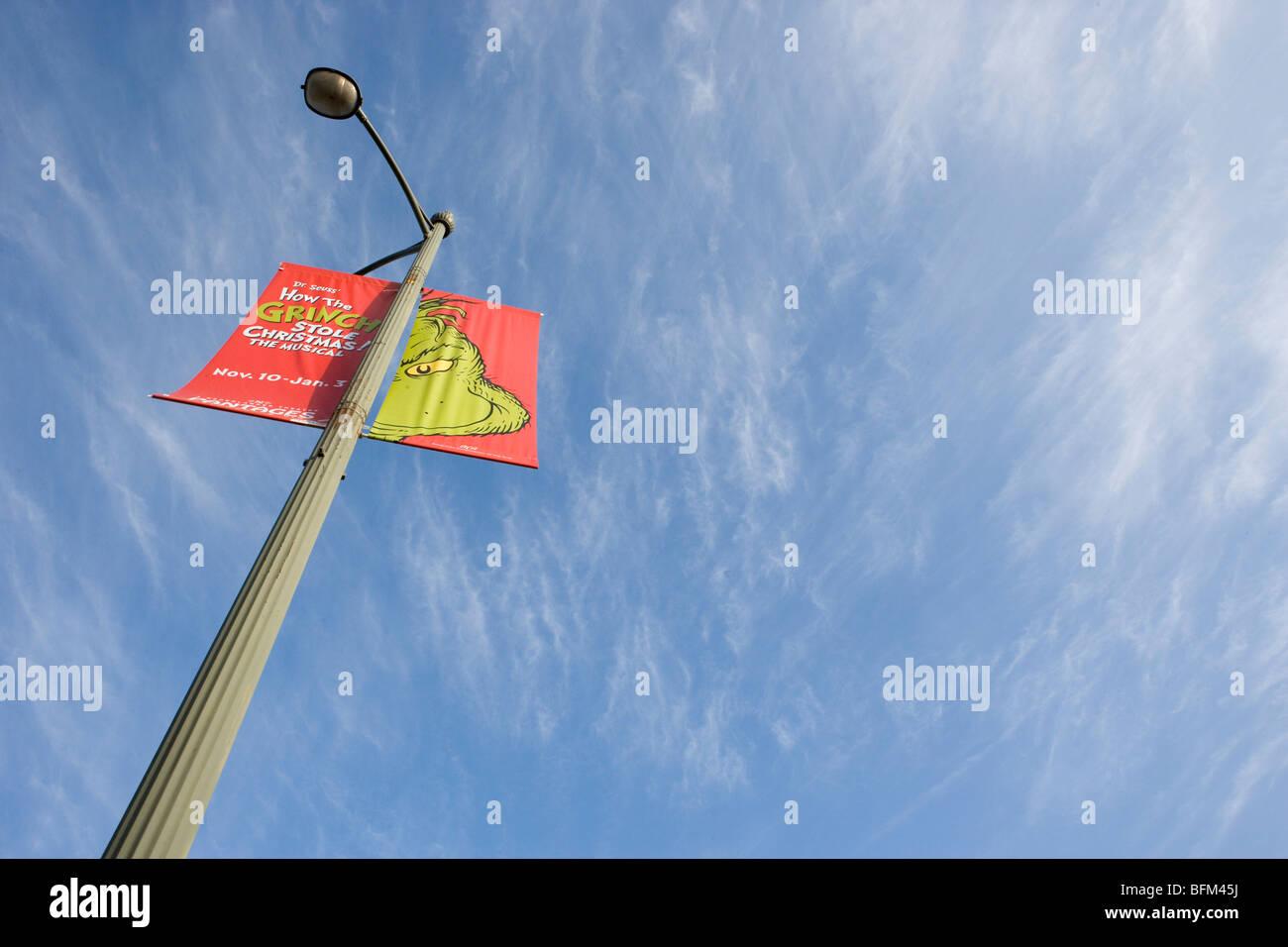 eine Werbung für dr. Seuss der Grinch-California Stockbild