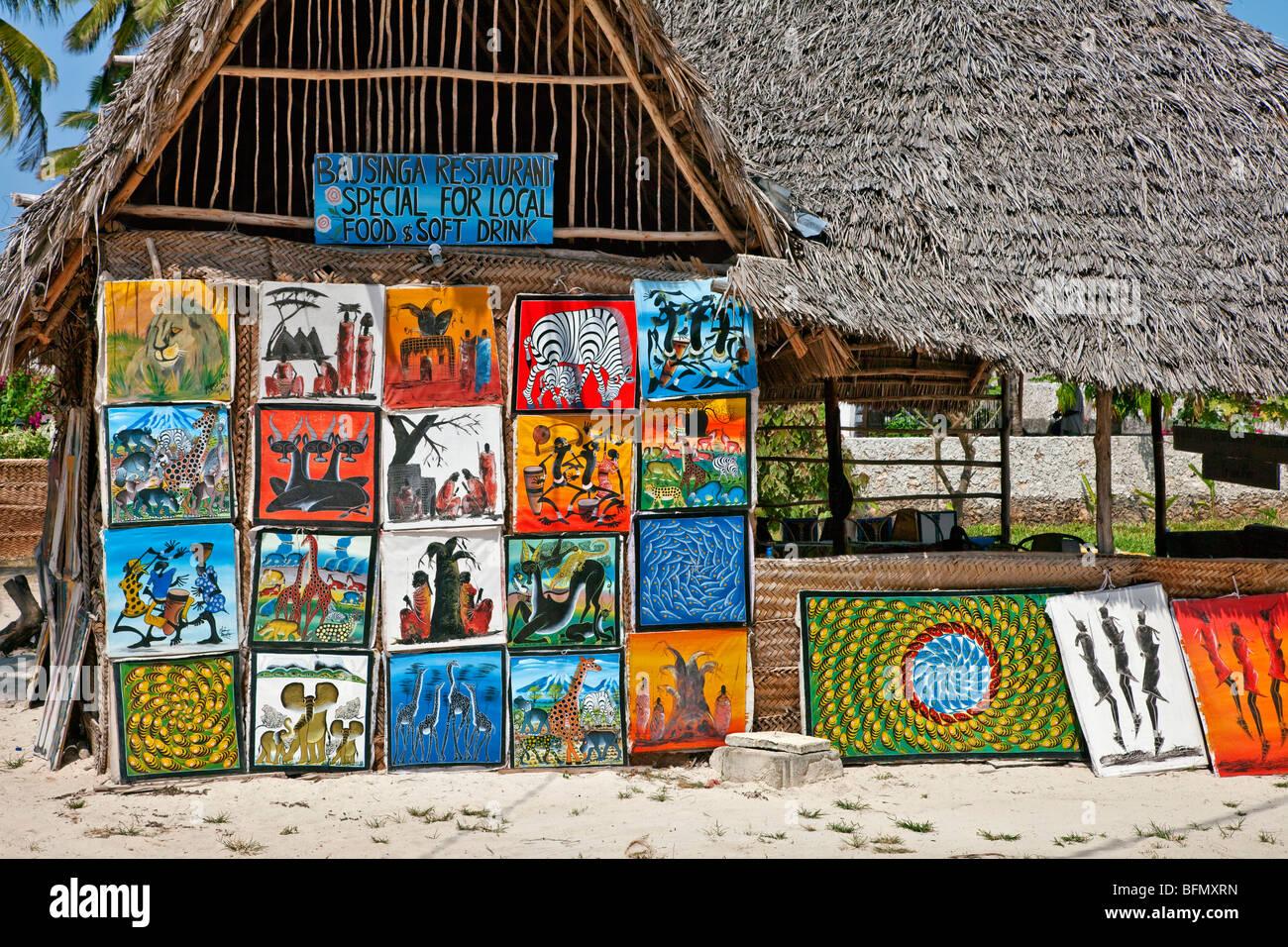tansania sansibar ein restaurant verkauf von gem lden von k nstlern in der n he von paje. Black Bedroom Furniture Sets. Home Design Ideas