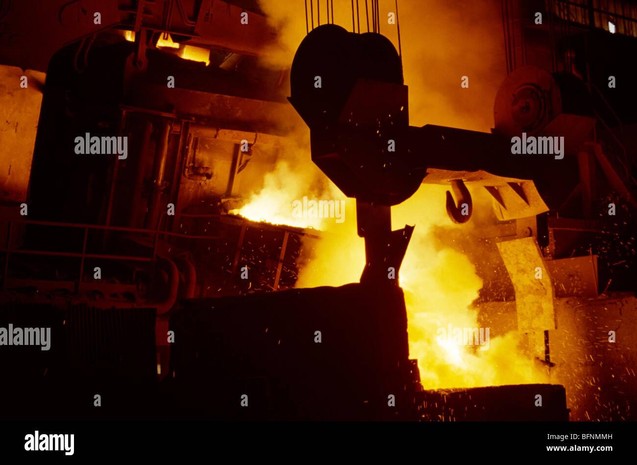 Stahlwerk Stockbild