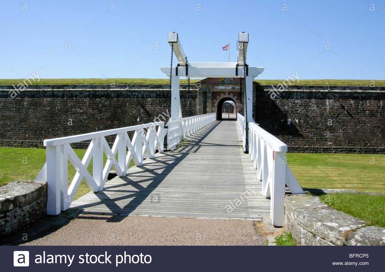 Eingang zum Fort St. George Inverness im schottischen Moray Firth Stockfoto