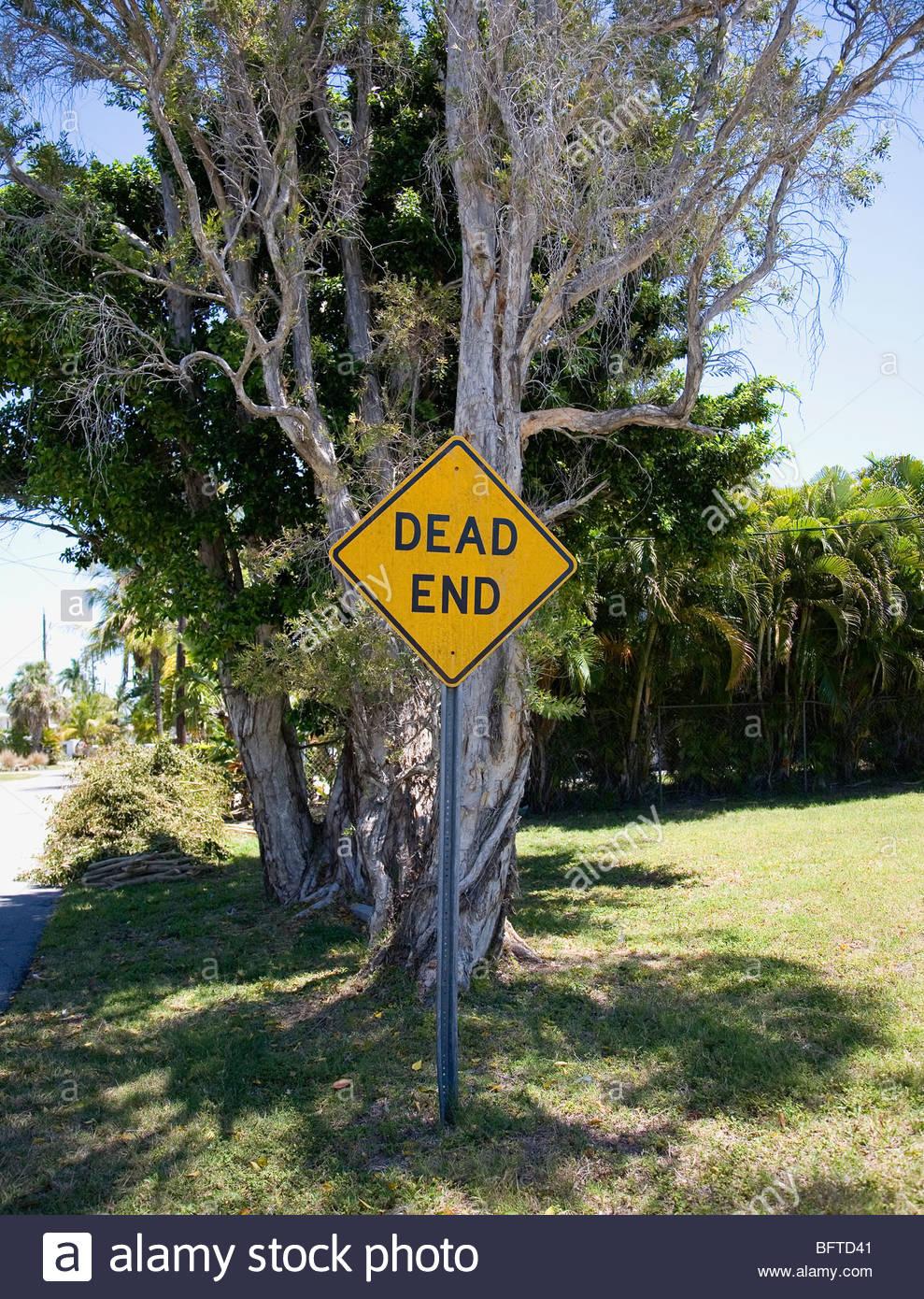 Dead-End-Zeichen Stockbild