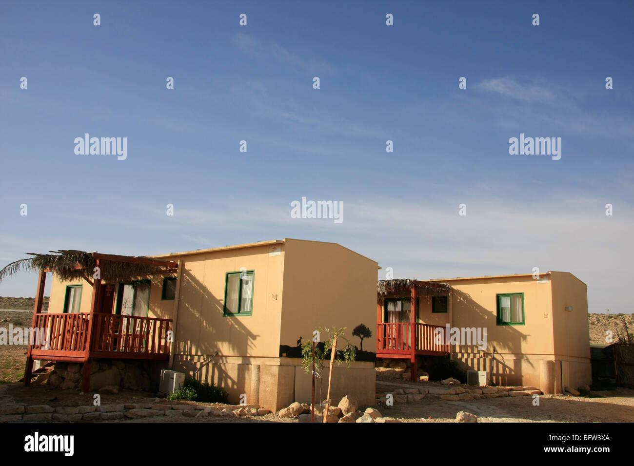 Israel, nördlichen Negev Berg. Ein Gästehaus in der Wüste Stockbild