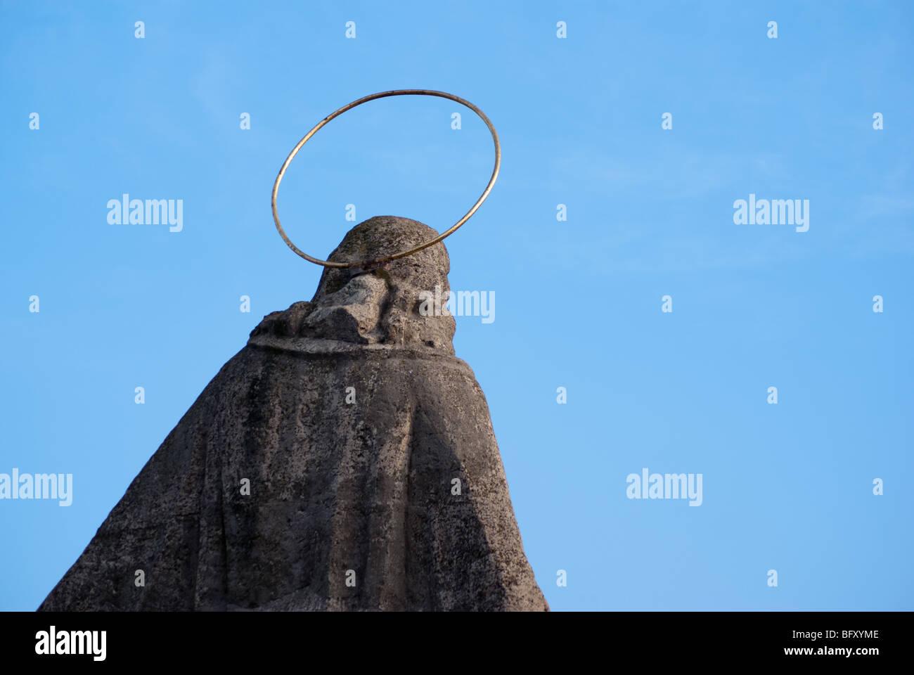 Abbildung von Jesus Christus auf der Oberseite ein Tor zur Kirche Saint-Roch in Bia?ystok Stadt, Ost-Polen. Stockbild