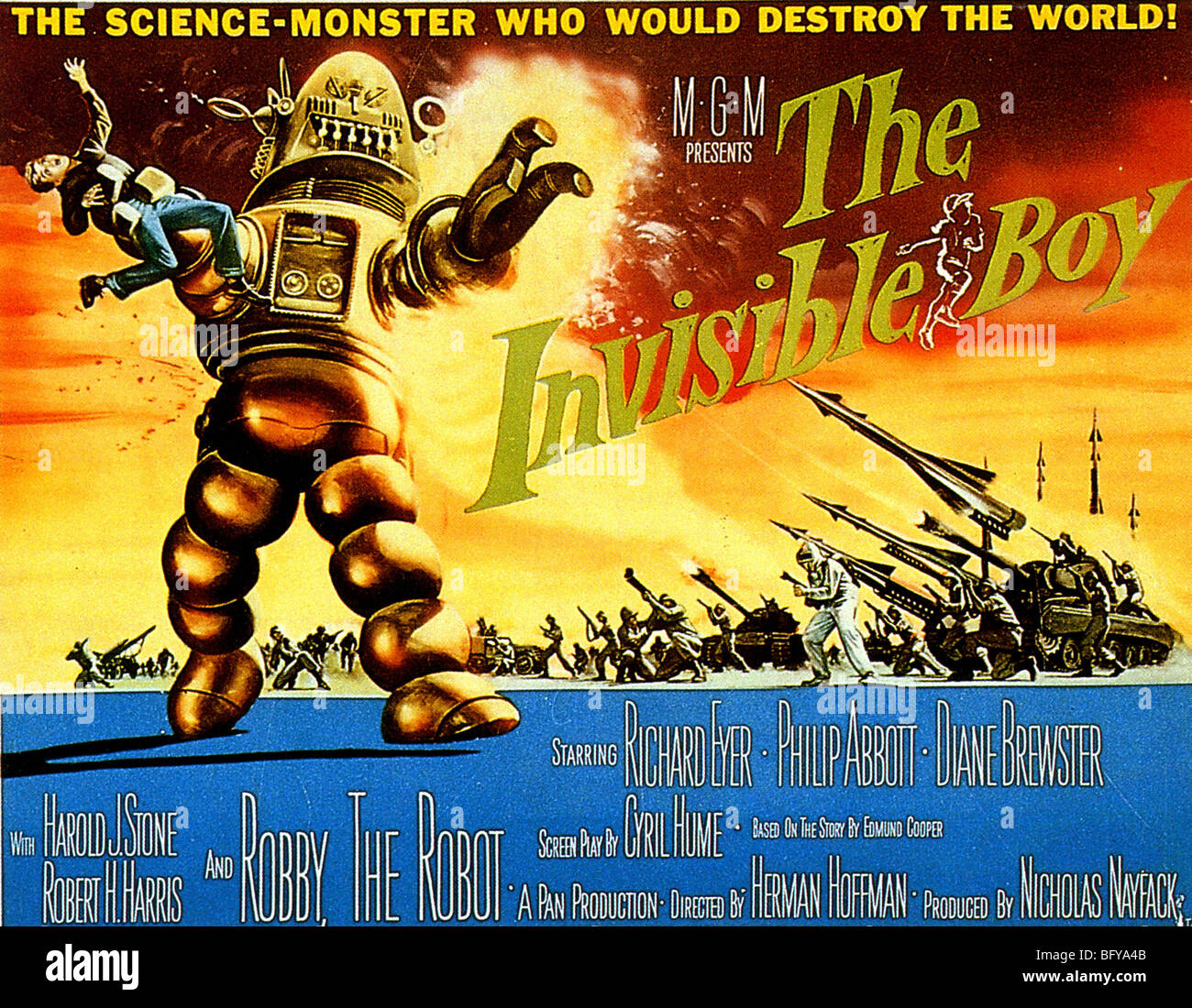 DER unsichtbare junge - Plakat für 1957 Lowe inkl. Film Stockbild