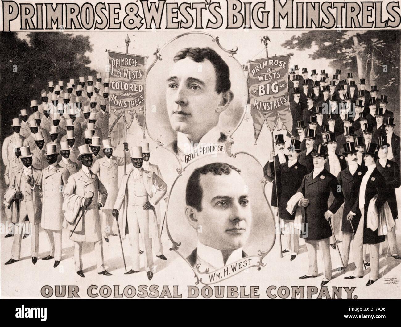 GEORGE & WILLIAM PRIMROSE WEST - amerikanische schwarz-Gesicht Gesang und Tanz-Duo, das mehrere Minnesänger Stockbild