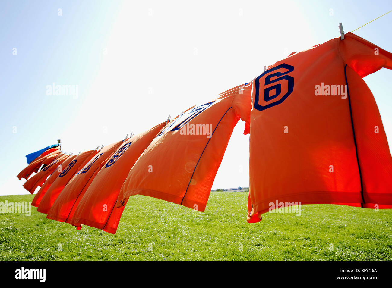 football shirt hanging stockfotos football shirt hanging bilder alamy. Black Bedroom Furniture Sets. Home Design Ideas