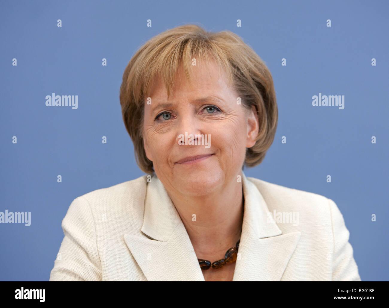 Bundeskanzlerin Angela Merkel, CDU, Deutschland, Berlin, 18.09.2009 Stockbild