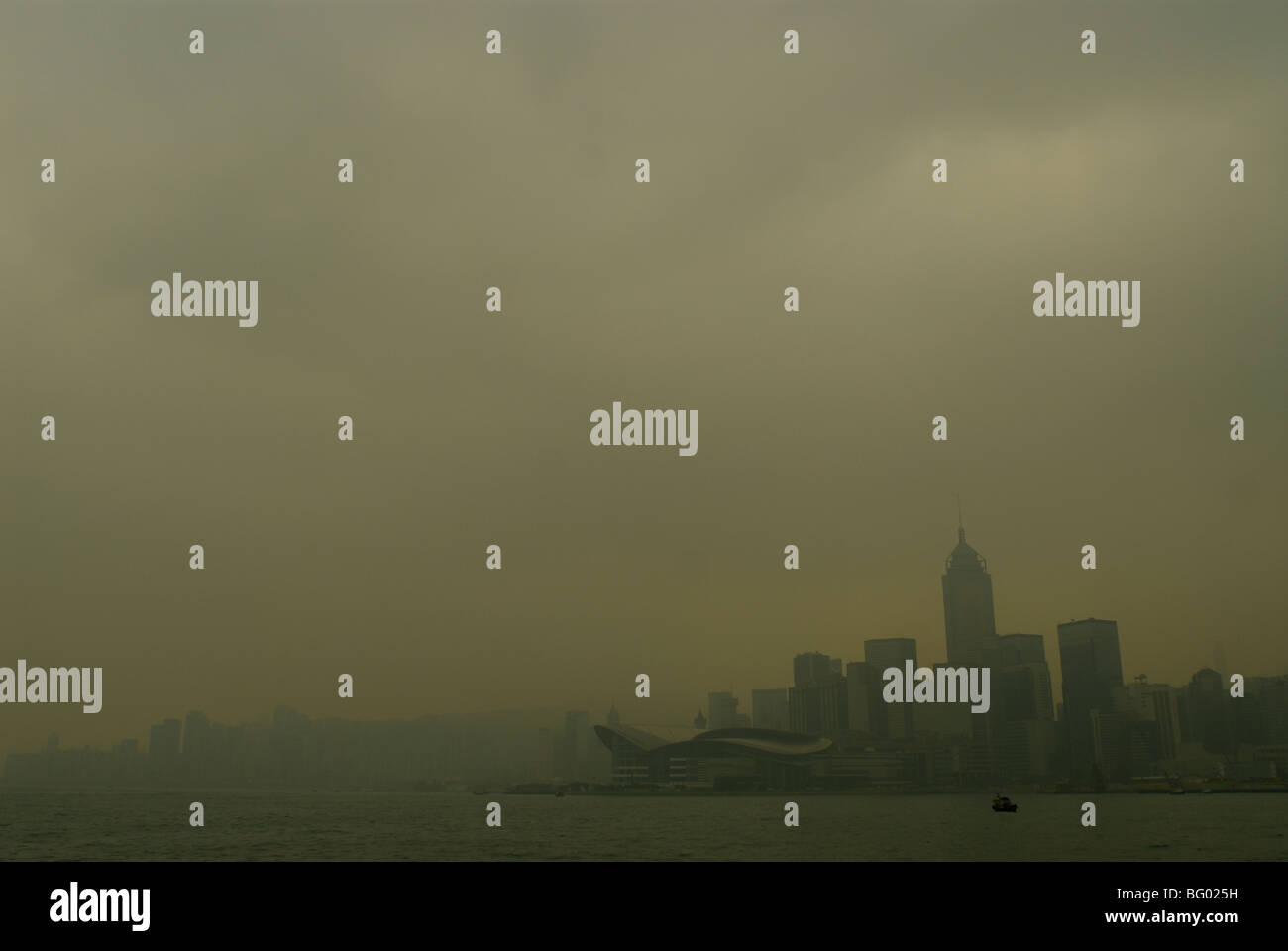 nebligen Hong kong Stockbild