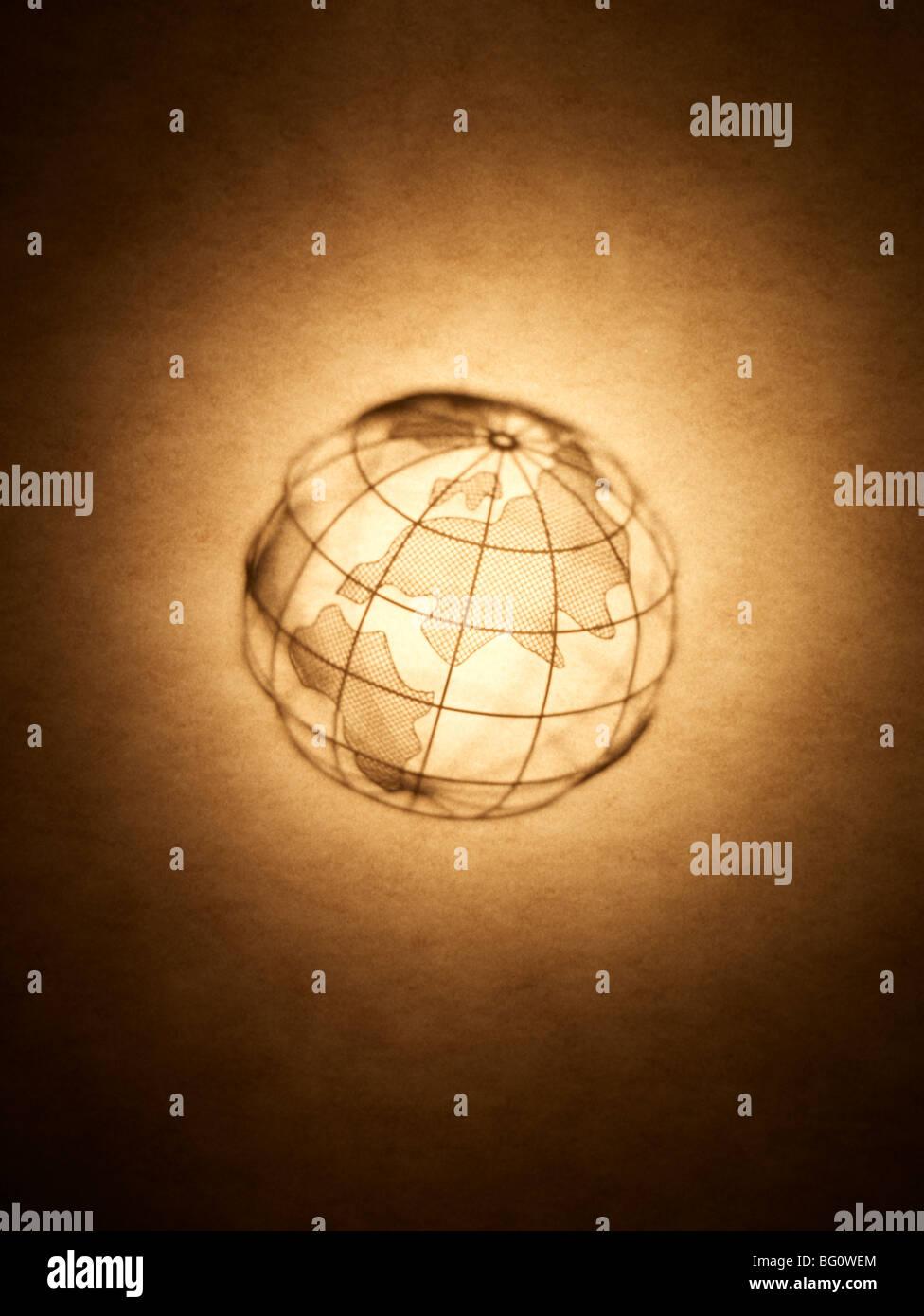 Globus-Silhouette-Erde Stockbild