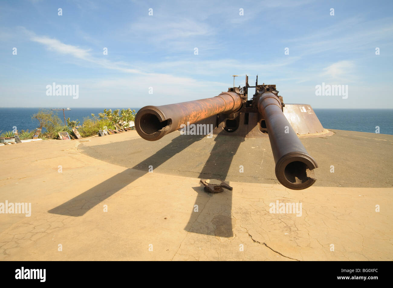 Waffen, Gorée Insel berühmt für seine Rolle in der Sklaverei, in der Nähe von Dakar, Senegal, Stockbild