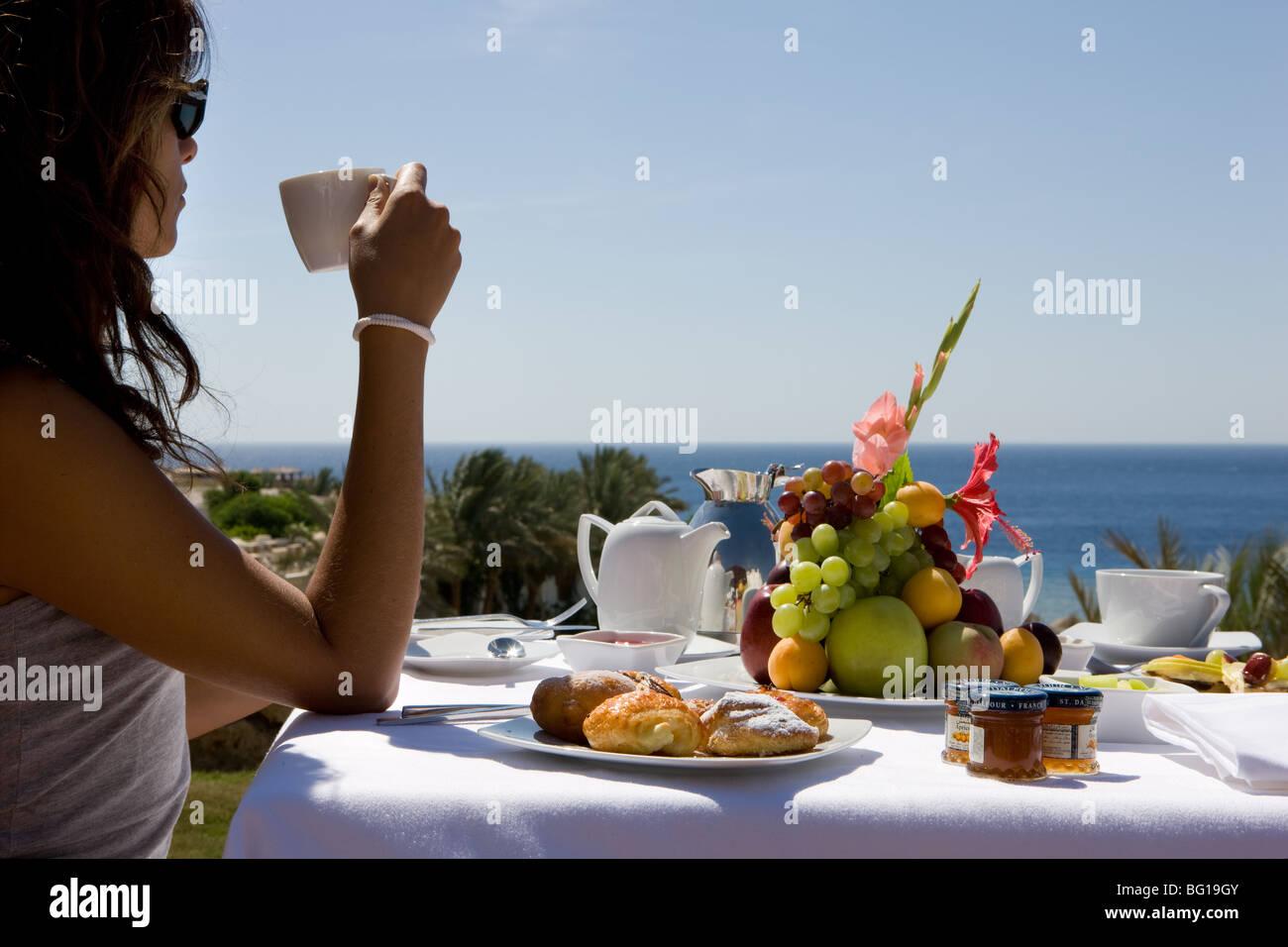 Afrika, Ägypten, Sharm el Sheik, Frucht, Farbe, Mädchen, das ...