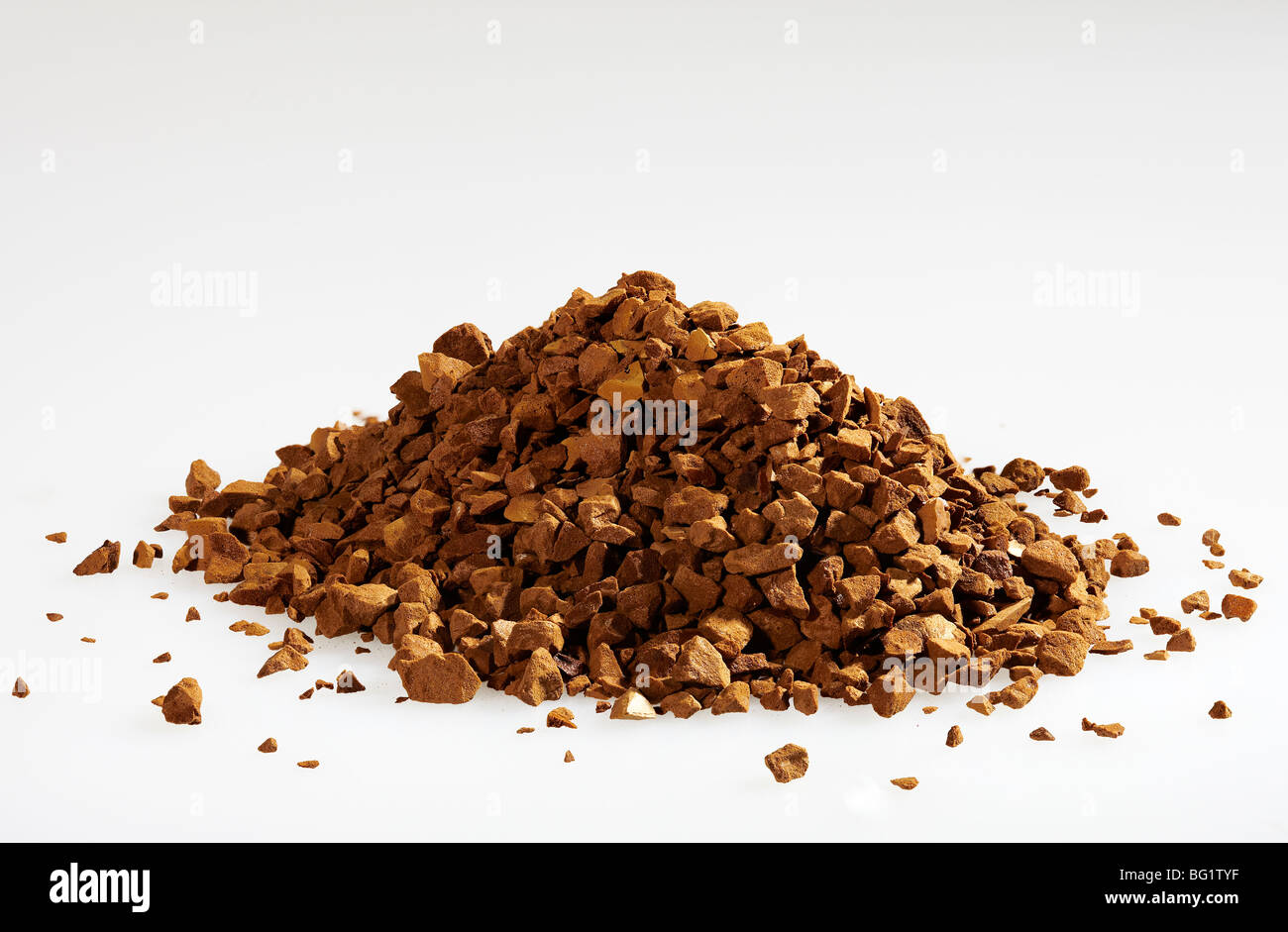 Nahaufnahme des Einfrieren getrocknet Kaffee Stockbild