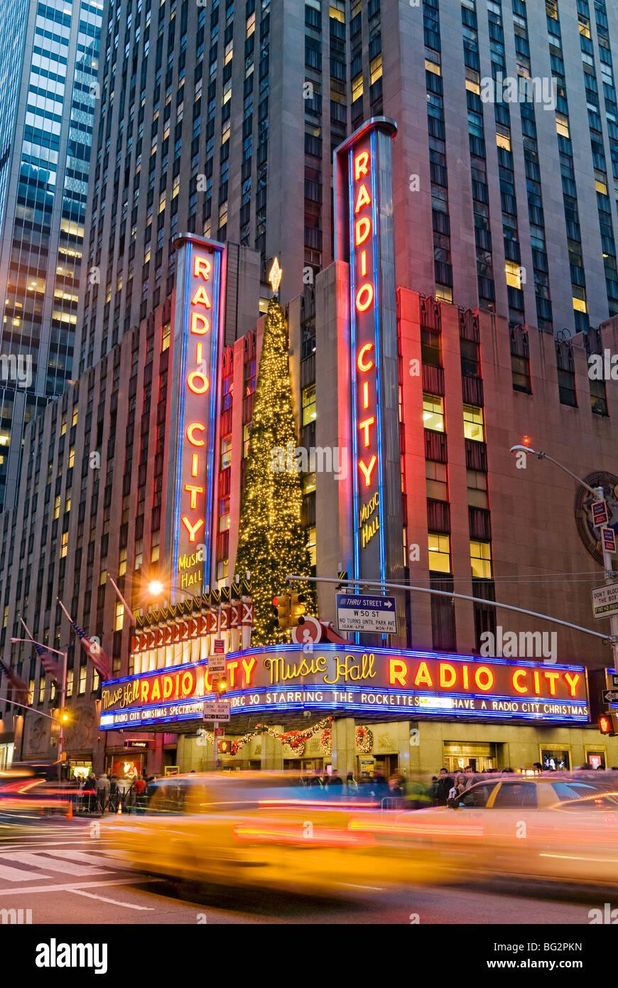 Die Radio City Music Hall Christmas Lights Stockbild