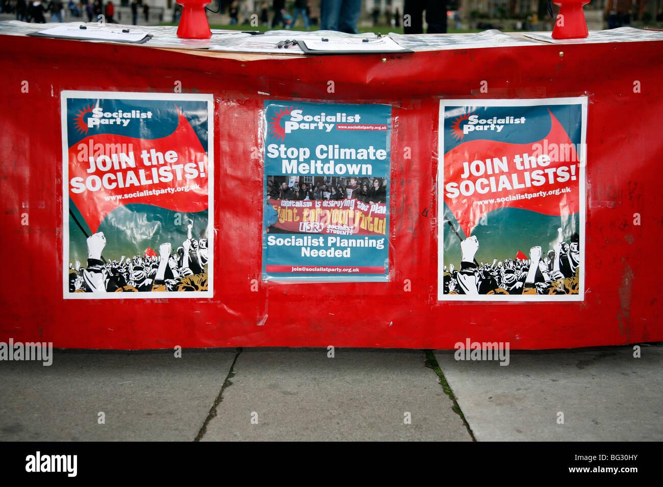 Sozialistische Partei-Plakate Stockbild