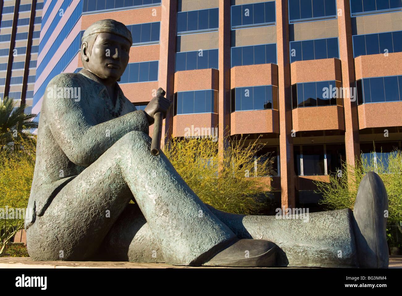 Hommage an Navajo Code Talkers von Doug Hyde, Phoenix, Arizona, Vereinigte Staaten von Amerika, Nordamerika Stockbild