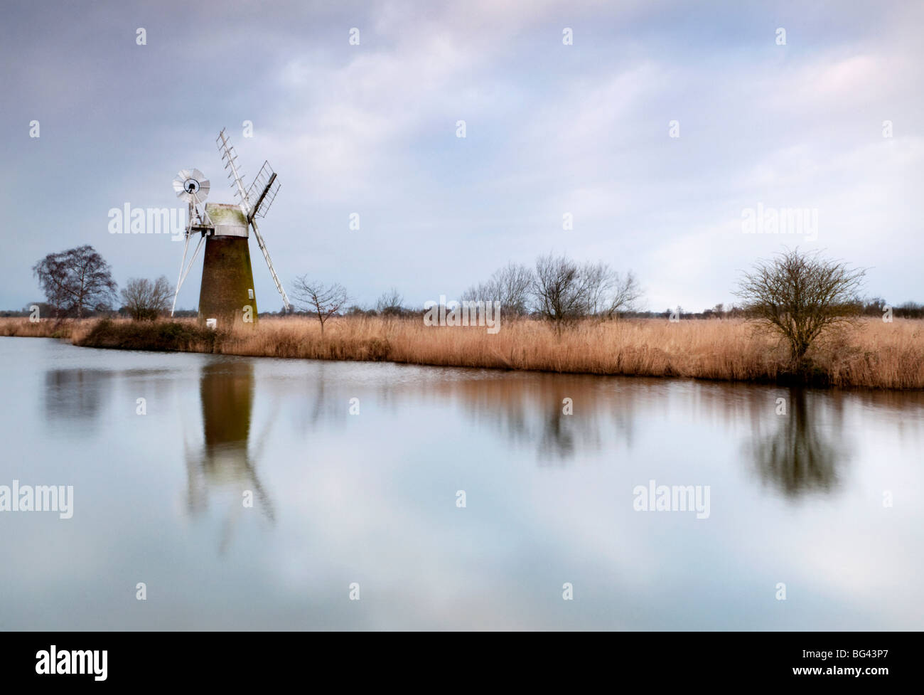 Turf Moor Windmühle, Norfolk, Großbritannien Stockbild