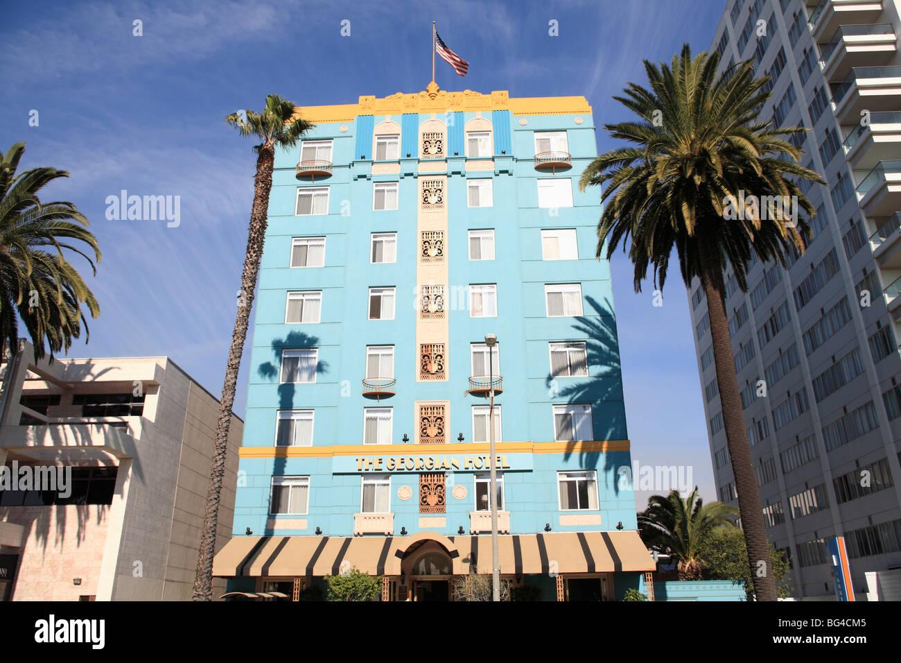 Art Deco, Georgian Hotel Ocean Avenue, Santa Monica, Los Angeles ...