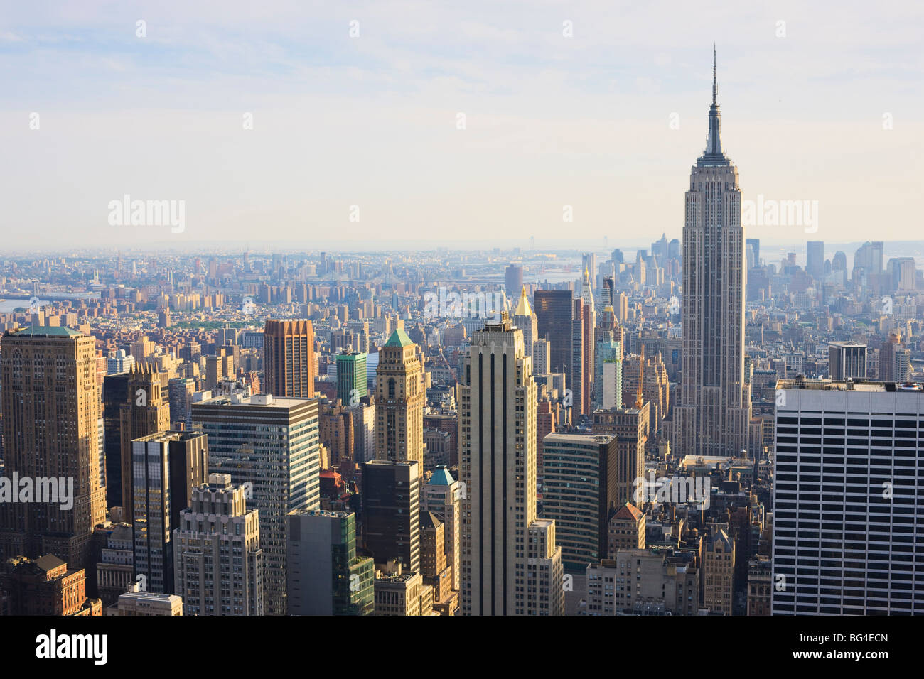 Empire State Building und Manhattan Stadtbild, New York City, New York, Vereinigte Staaten von Amerika, Nordamerika Stockfoto