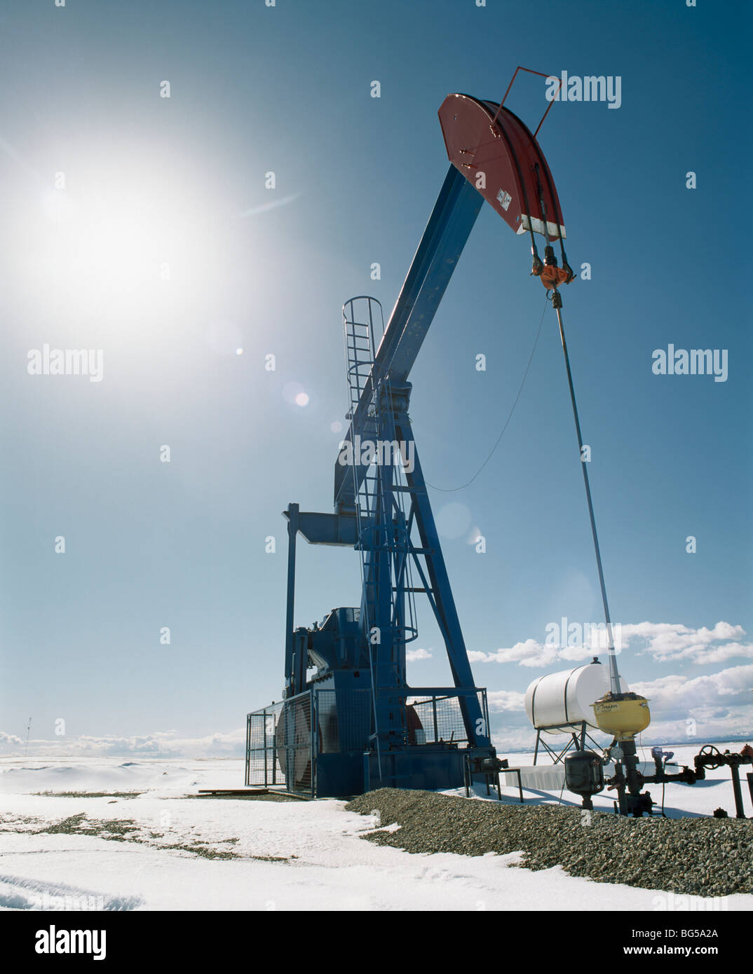 Pump Jack, Alberta, Kanada Stockbild