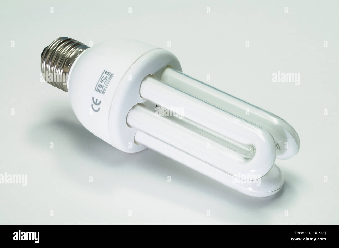 Energiesparlampe, Studio Bild. Stockbild