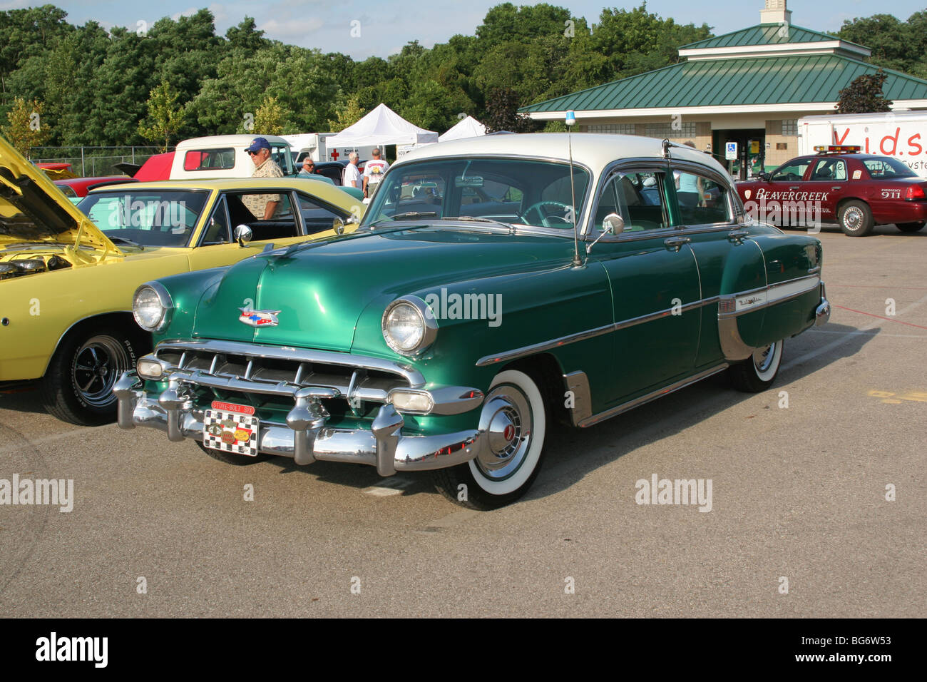 Auto 1954 Chevrolet Bel Air Powerglide Show In Springfield Ohio Usa D63000
