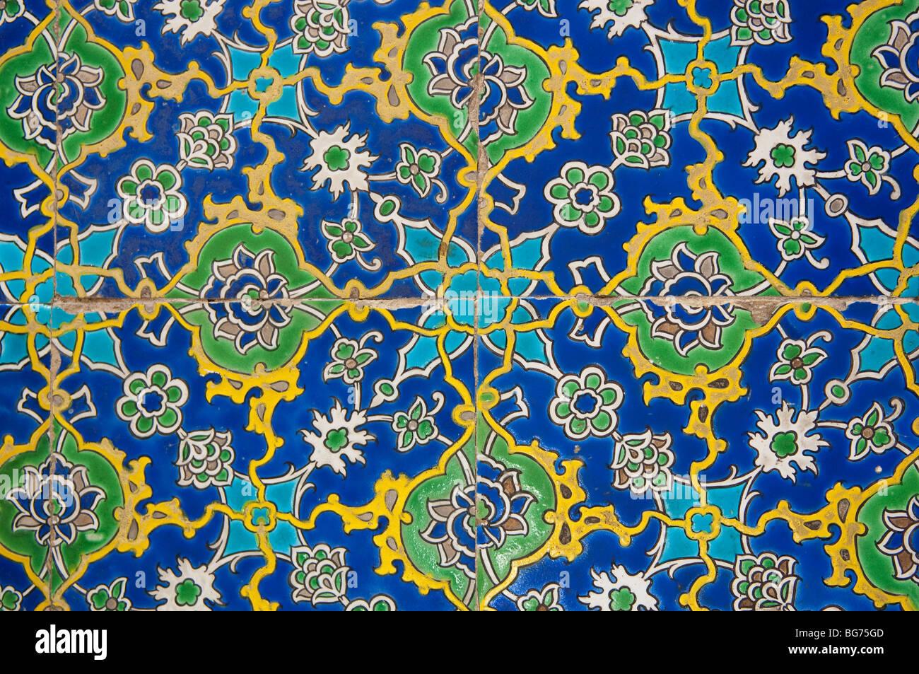 Iznik Fliesen An Den Topkapi Palast Istanbul Turkei Stockfoto