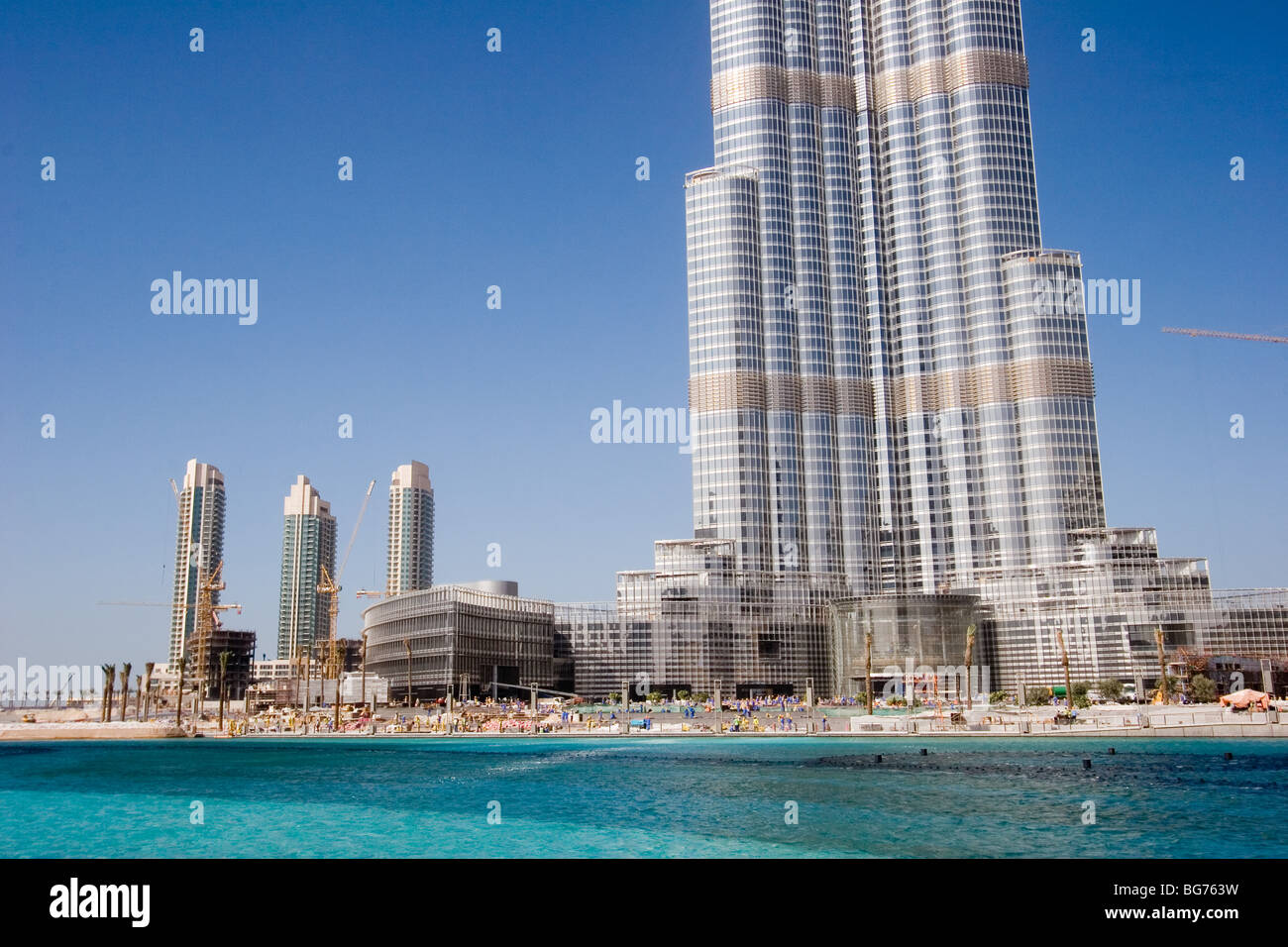 burj dubai das h chste geb ude der welt stockfoto bild 27203341 alamy. Black Bedroom Furniture Sets. Home Design Ideas