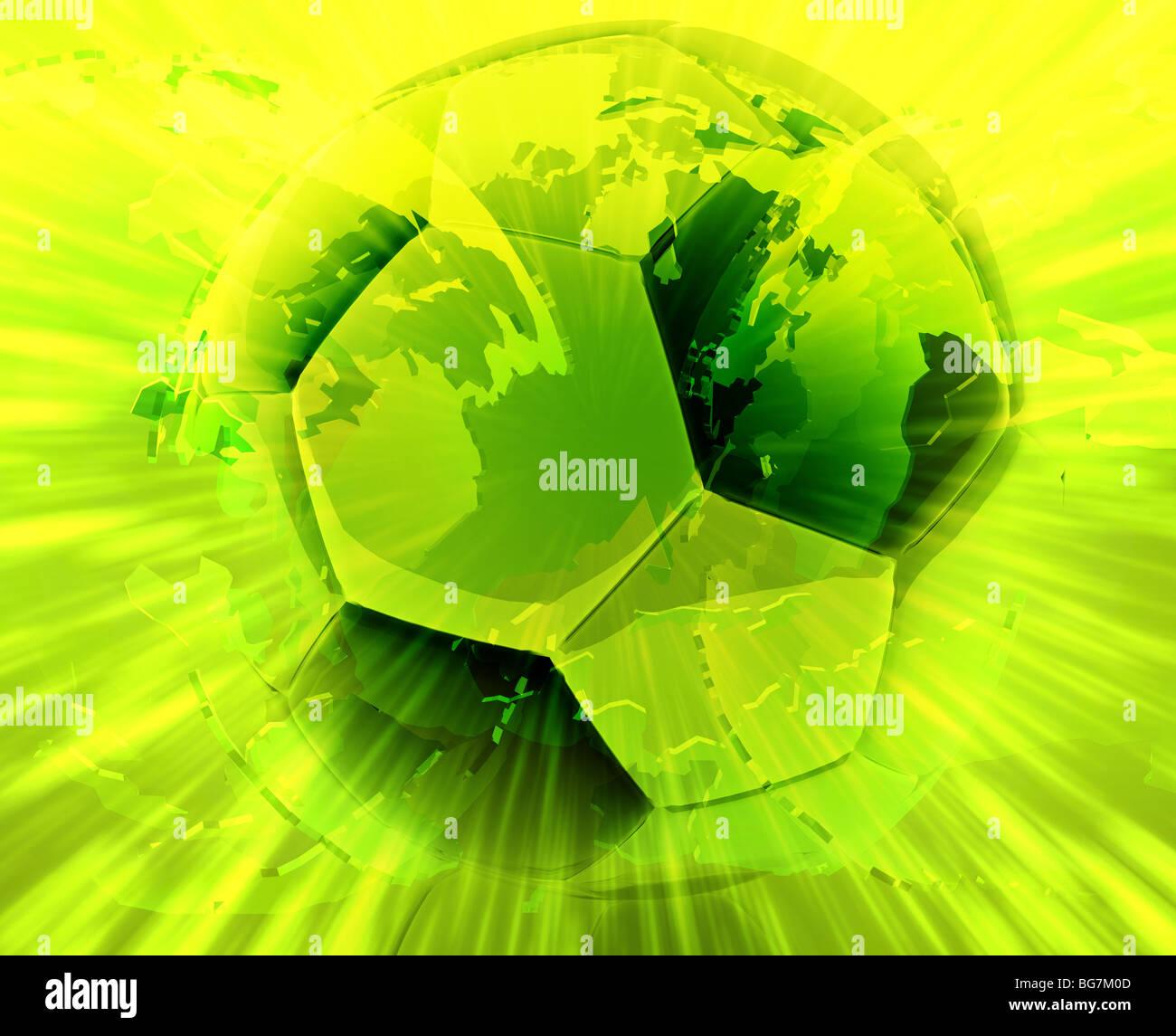 Internationalen Weltweit Moderne Fussball Ball Abstrakte