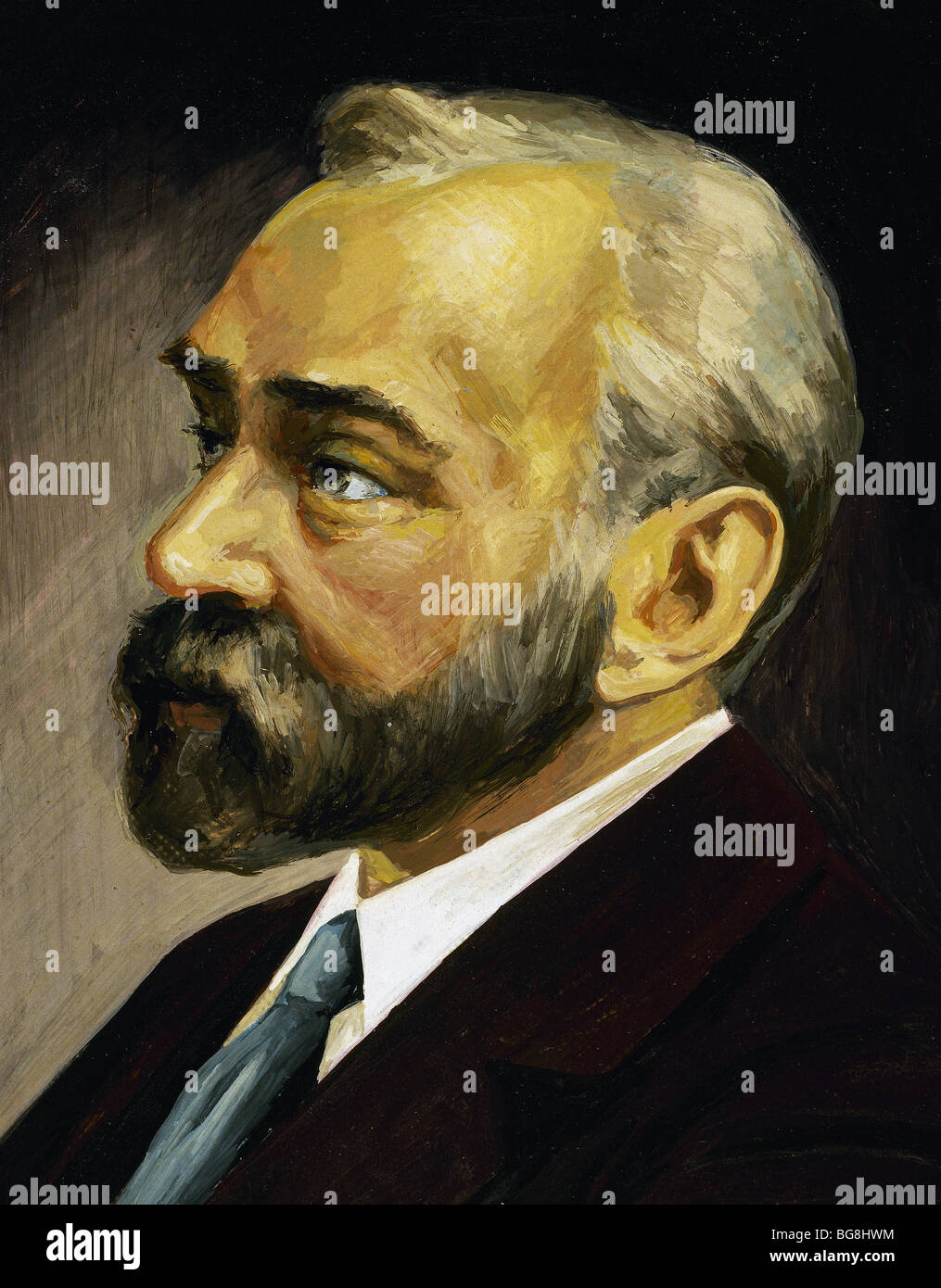 Nobel, Alfred (Stockholm 1833-San Remo, 1896). Chemiker. Stockbild