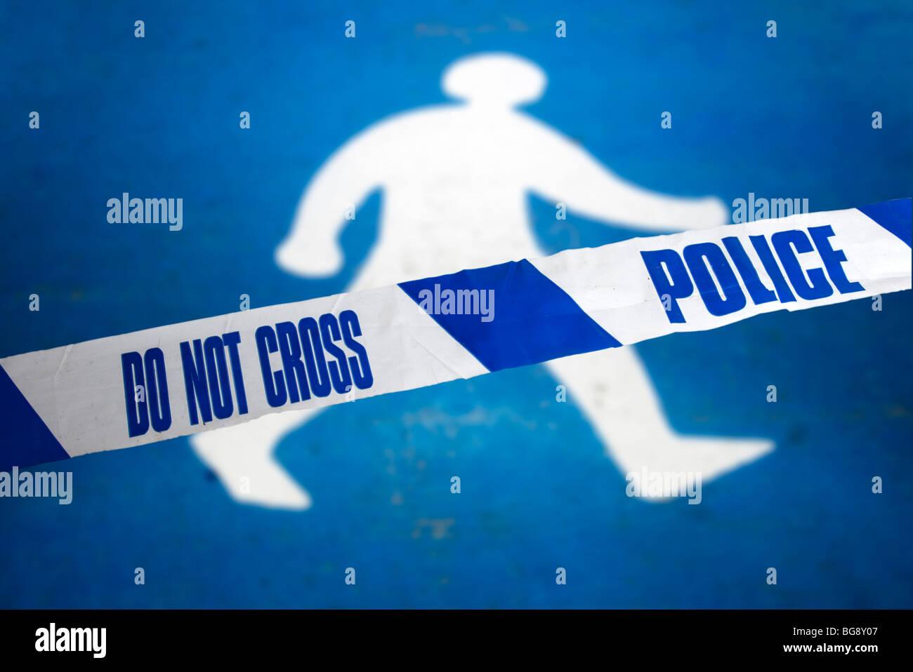 Polizei-Szenen des Verbrechens Band Stockbild