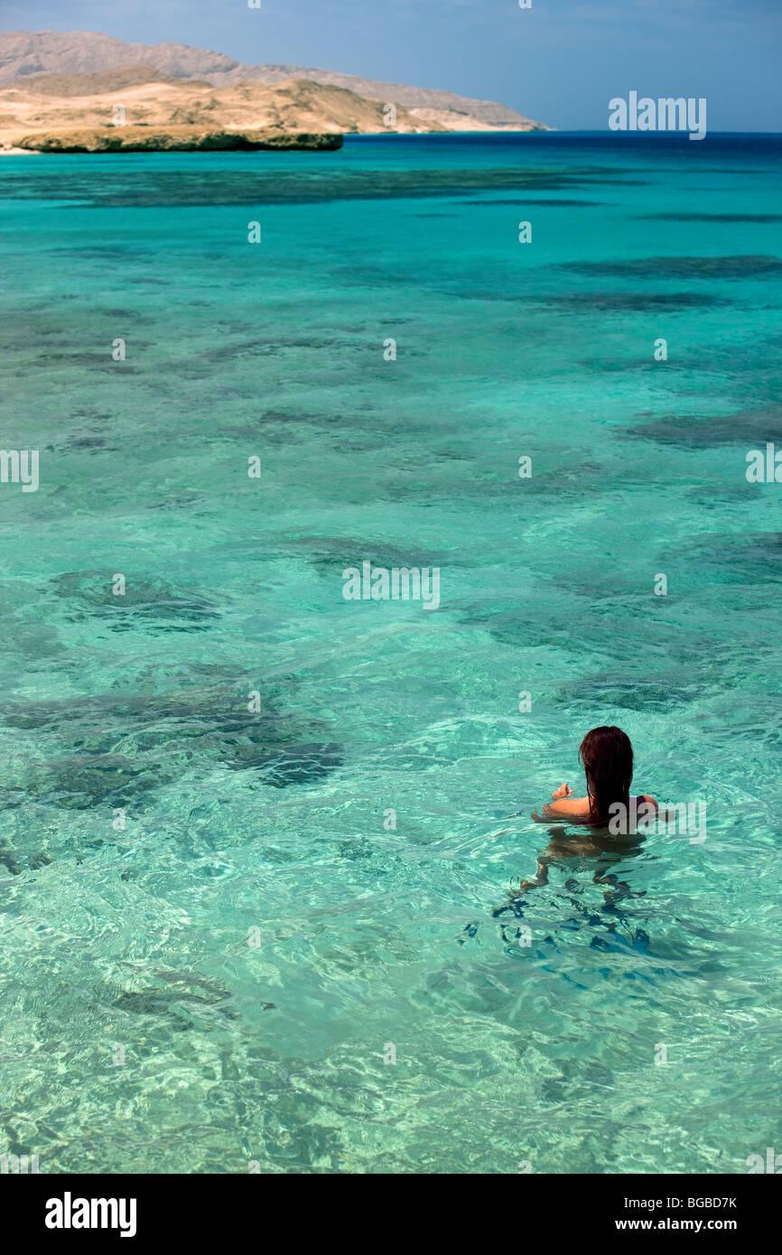 Afrika, Ägypten, Sharm el Sheikh, Tiran Insel, Meer, Küste, Farben, Tauchen, Tauchen, Korallenriff, Schnorcheln Stockbild