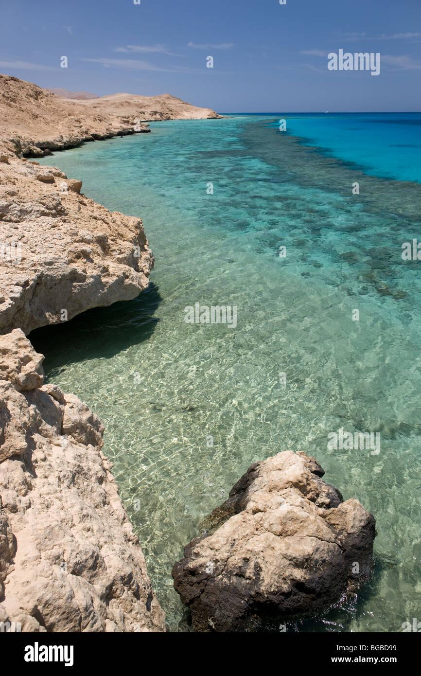 Afrika, Ägypten, Sharm el Sheikh, Tiran Insel, Meer, Küste, Farben, Korallenriff, Schnorcheln, Wasser Stockbild
