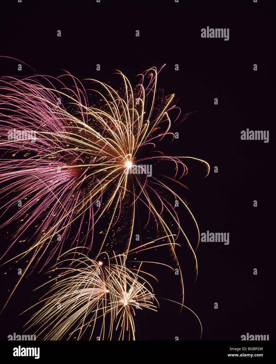 Feuerwerk; Internationaler Feuerwerkswettbewerb in Montreal, Quebec, Kanada Stockbild